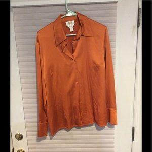Talbots orange shirt